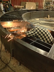welding the wheel box